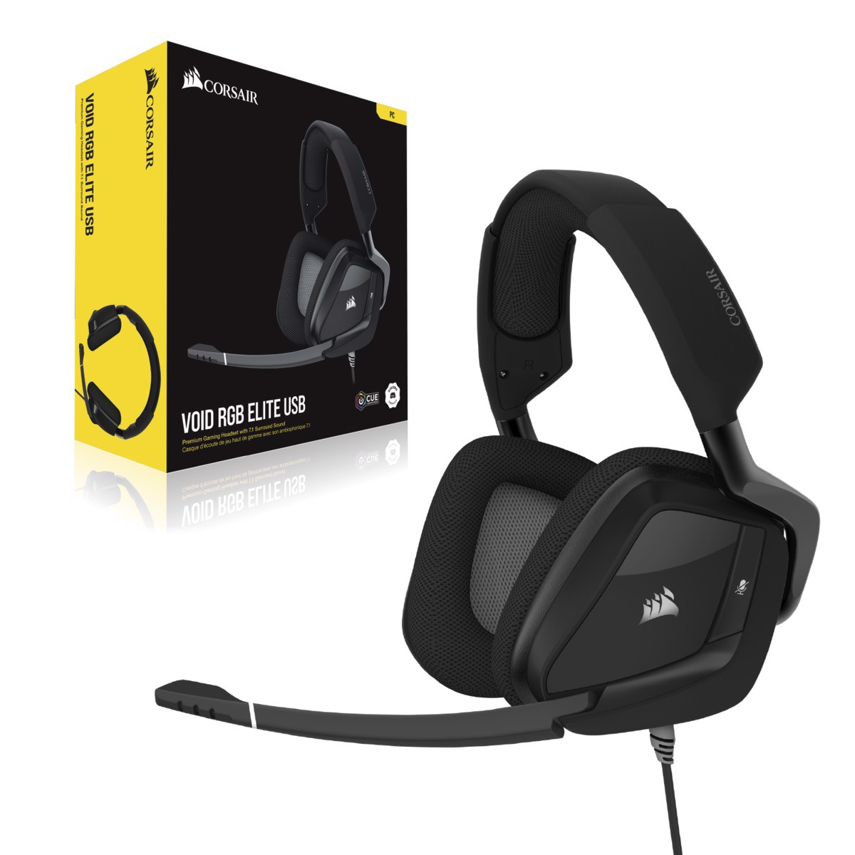 Tai nghe chơi game Corsair VOID ELITE Surround 7.1 Carbon - NEW