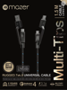 Multi-Tips Rugged.Tek.II 1.5M USB-A+USB-C to Micro USB+USB-C Cable