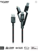 Multi-Tips Rugged.Tek.II 1.5M USB to Lightning+Micro USB+USB-C Cable