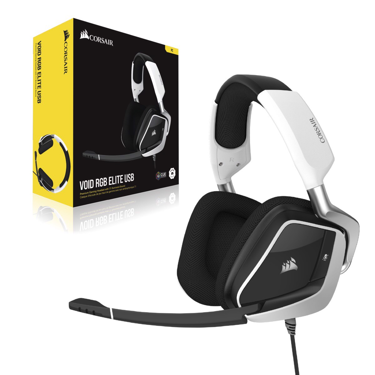 Tai nghe chơi game Corsair VOID RGB ELITE USB 7.1 White - NEW