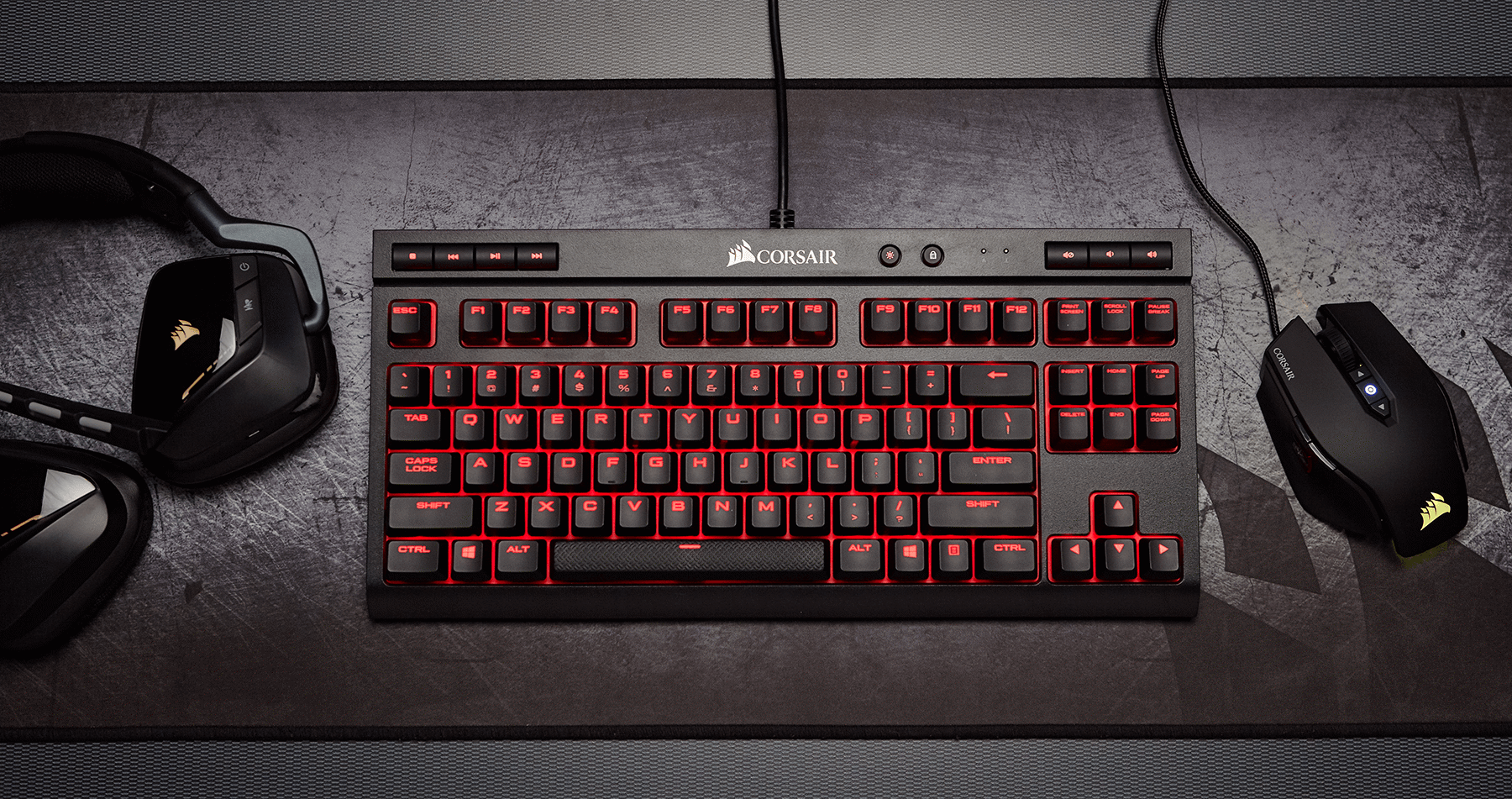 Bàn phím Corsair K63 Mx Red - Red Led