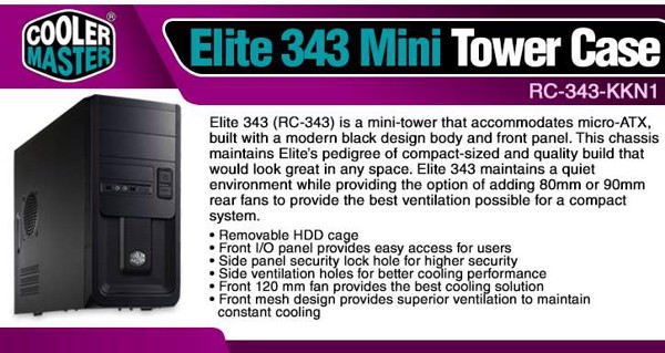 Case CoolerMaster Elite 343 (mini)