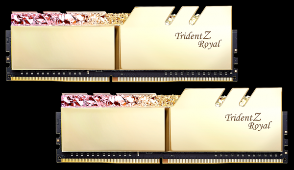 DDR4 Gskill Trident Z Royal 16Gb (8Gbx2) 3200MHz Gold