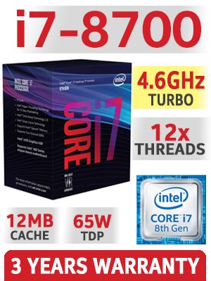 CPU Intel i7 8700 Box