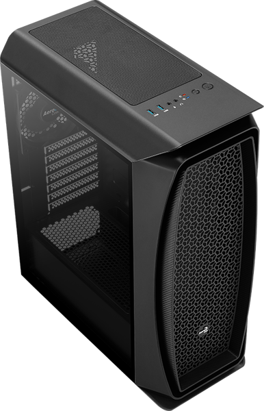 Case Aerocool AERO ONE G-BK GLASS EDITION BLACK