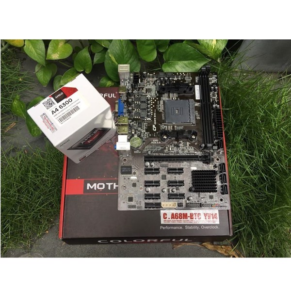 Mainboard Colorful C.A68M-BTC V14+ CPU AMD A4 6300 (Box)