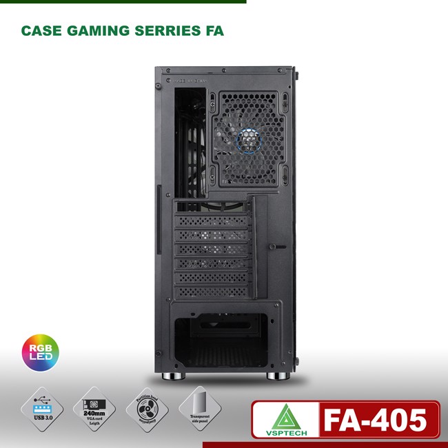Case VSP FA-405 ESPORT Gaming (Tặng 2 Fan)