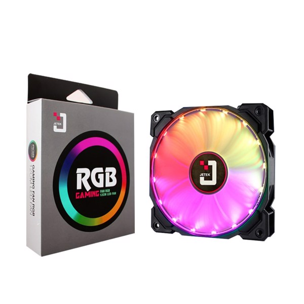 Fan JETEK RGB 12cm Led