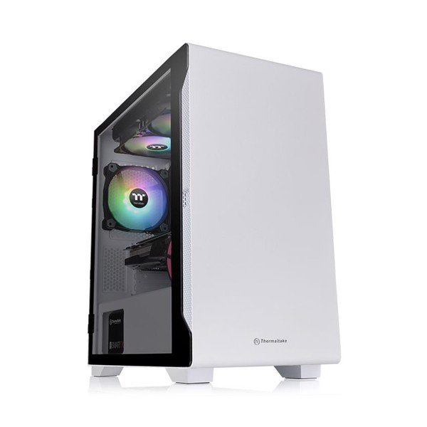 Case Micro S100 Tempered Glass Snow Thermaltake-Tặng Fan