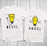 Áo đôi - Angel/Devil Couple T shirt