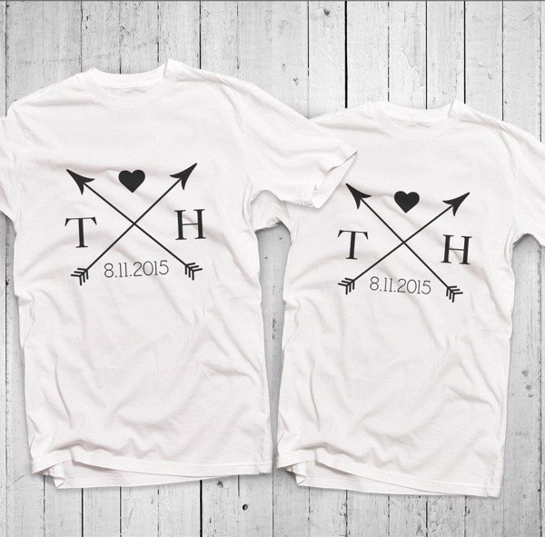 Áo đôi - Arrow Custom Name Couple T shirt