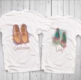 Áo đôi - Giày - Shoes Couple T shirt