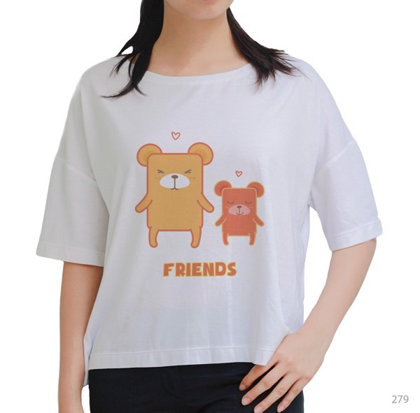 Áo oversize Bear Friends