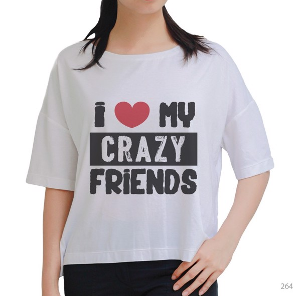Áo oversize Crazy Friend