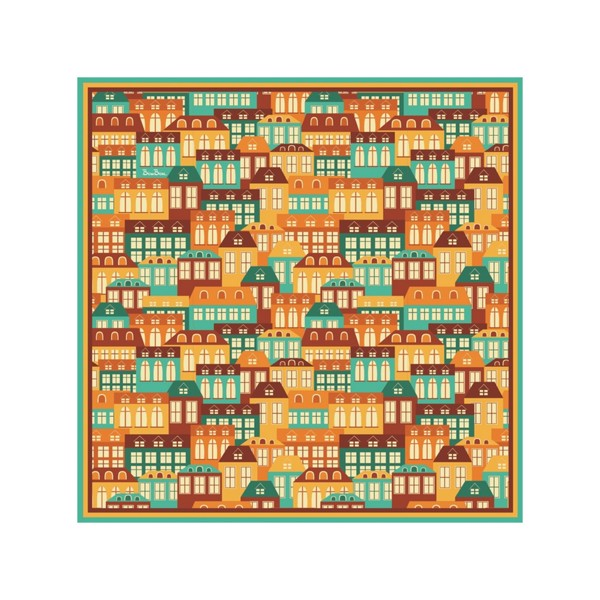 Khăn (90x90) - Colorful City - (Colorful City)