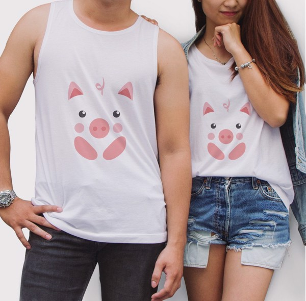 Tanktop đôi Animals Illustration