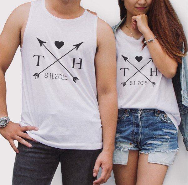 Tanktop đôi Arrow Custom Name