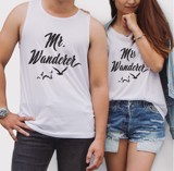 Tanktop đôi Mr - Mrs. Wanderer