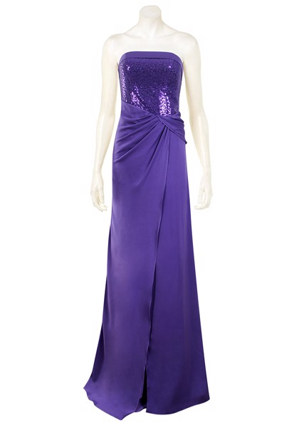 Twisted waistline long gown