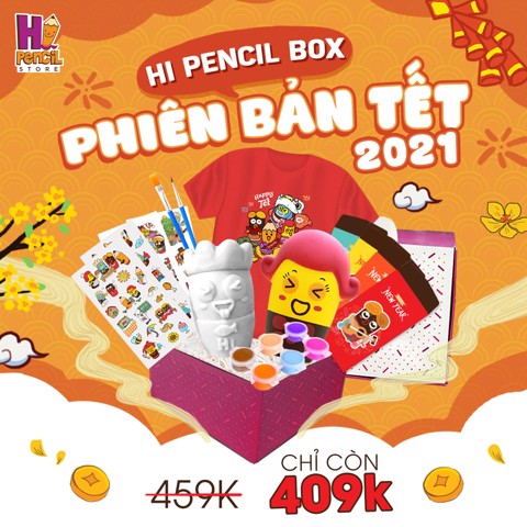 Hi Pencil Box Tết