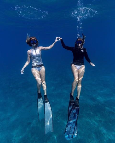 Foot Pockets Leader Fins - Giày lắp chân nhái free diving