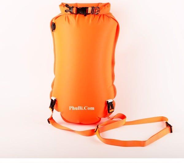 Ba lô túi khí kép 28 Lít đựng đồ bơi kiêm phao bơi sông hồ biển MARJAQE 901