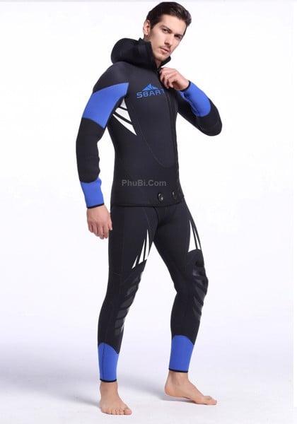 Bộ đồ lặn người nhái chống lạnh chống nước wetsuit 5mm