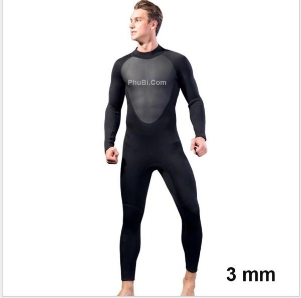 Wetsuit bơi lặn giữ nhiệt chống thấm 3 mm