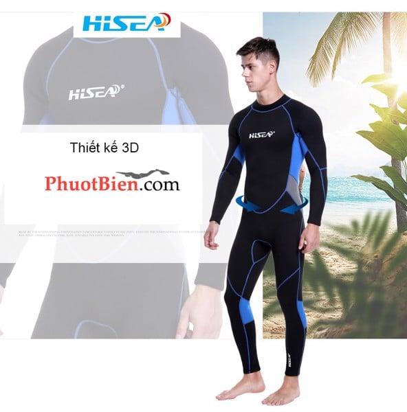 Bộ đồ lặn giữ nhiệt scuba Wetsuit 3mm