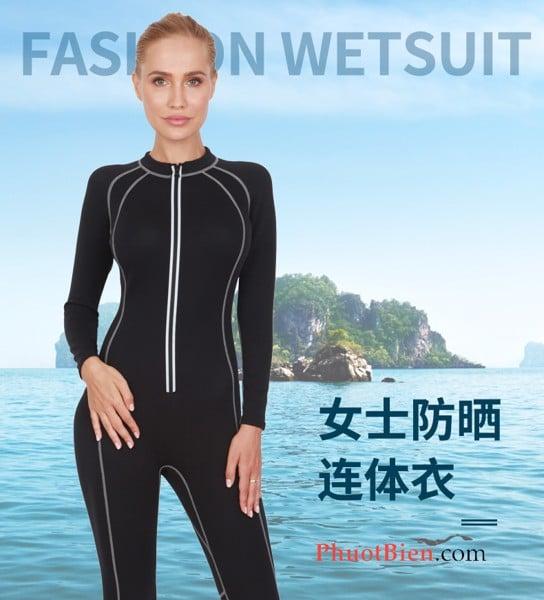 Wetsuit bơi lặn giữ nhiệt nữ
