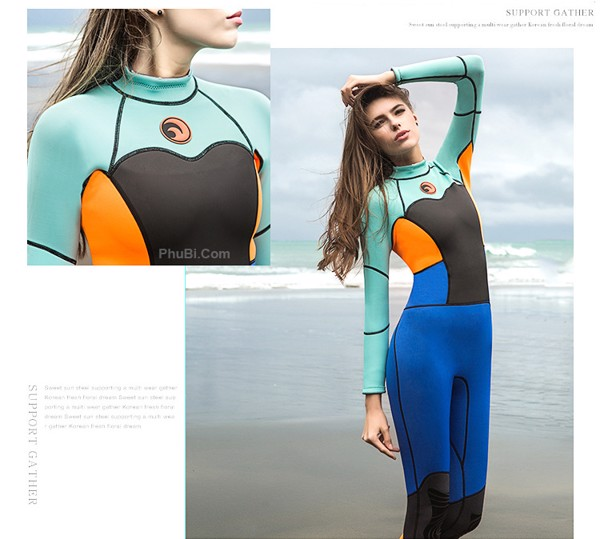 Quần áo bơi giữ nhiệt chống sứa wetsuit nữ