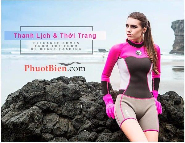 quần áo bơi lặn giữ nhiệt websuit nữ