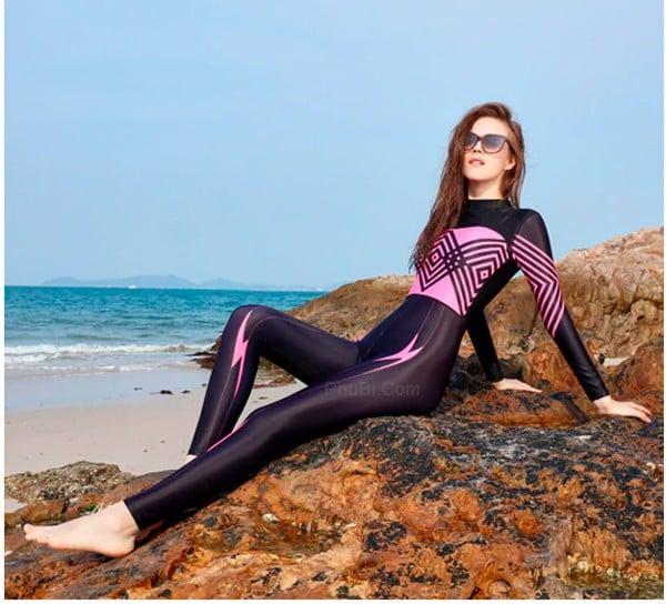 Đồ Bơi Nữ Dài Tay Thân Liền Kín Đáo