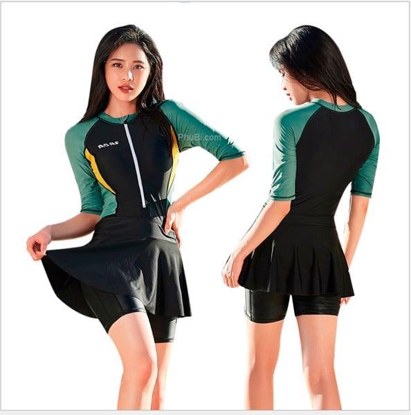 Đồ bơi nữ liền thân dạng váy Hàn Quốc