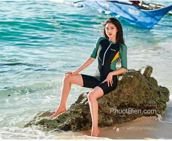 Đồ bơi nữ liền thân dạng lửng