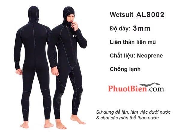 Quần áo lặn giữ nhiệt 3mm