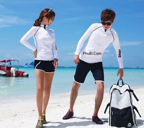 Đồ đôi đi biển phong cách Hàn Quốc