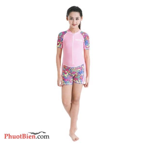 Đồ bơi dài tay liền quần cho bé gái