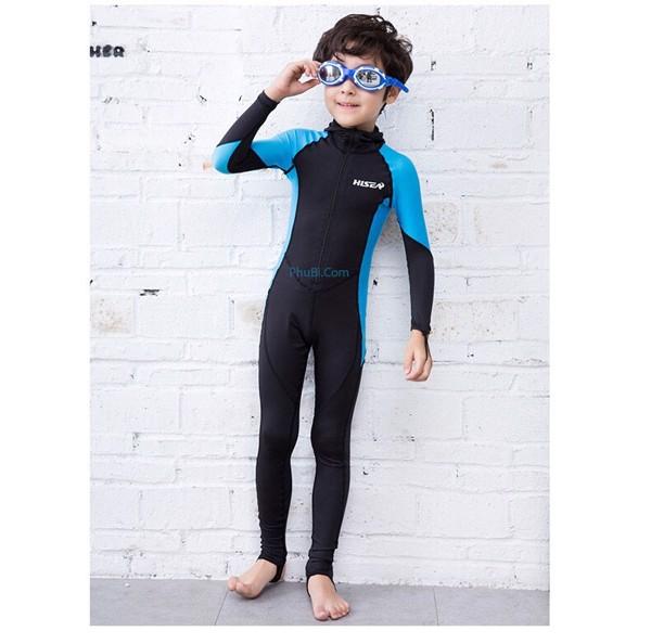 Đồ bơi dài tay liền quần và mũ dành cho bé trai