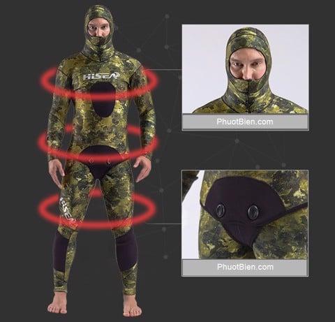Quần áo người nhái Spearfishing Wetsuit 3.5 mm