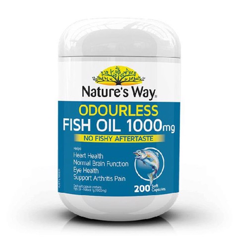 Nauture's way fish oil 1000mg - Viên uống bổ sung omega 3
