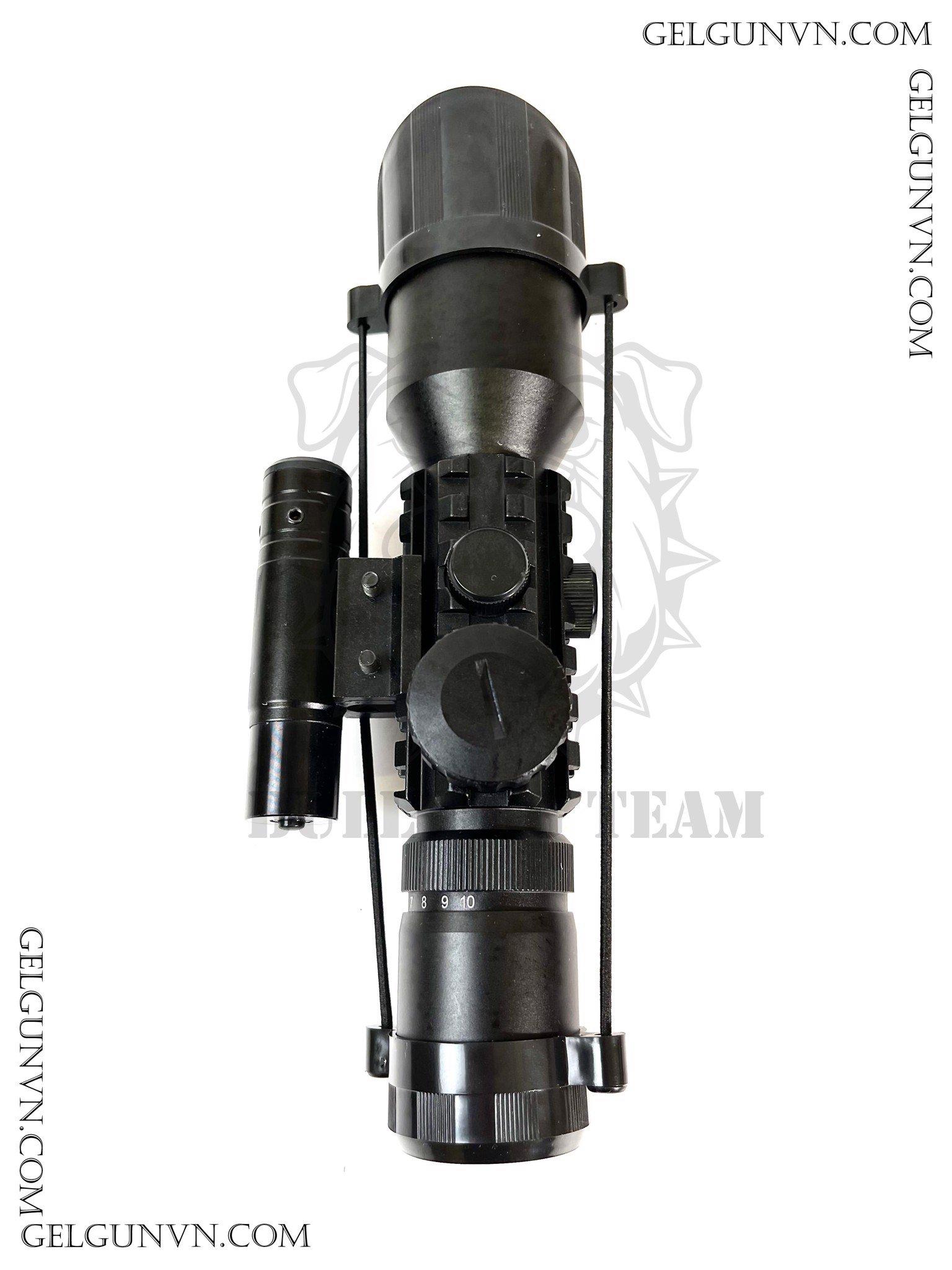 Scope 3-10x42 ( kèm Laze ) siêu hợp với dòng súng tự động