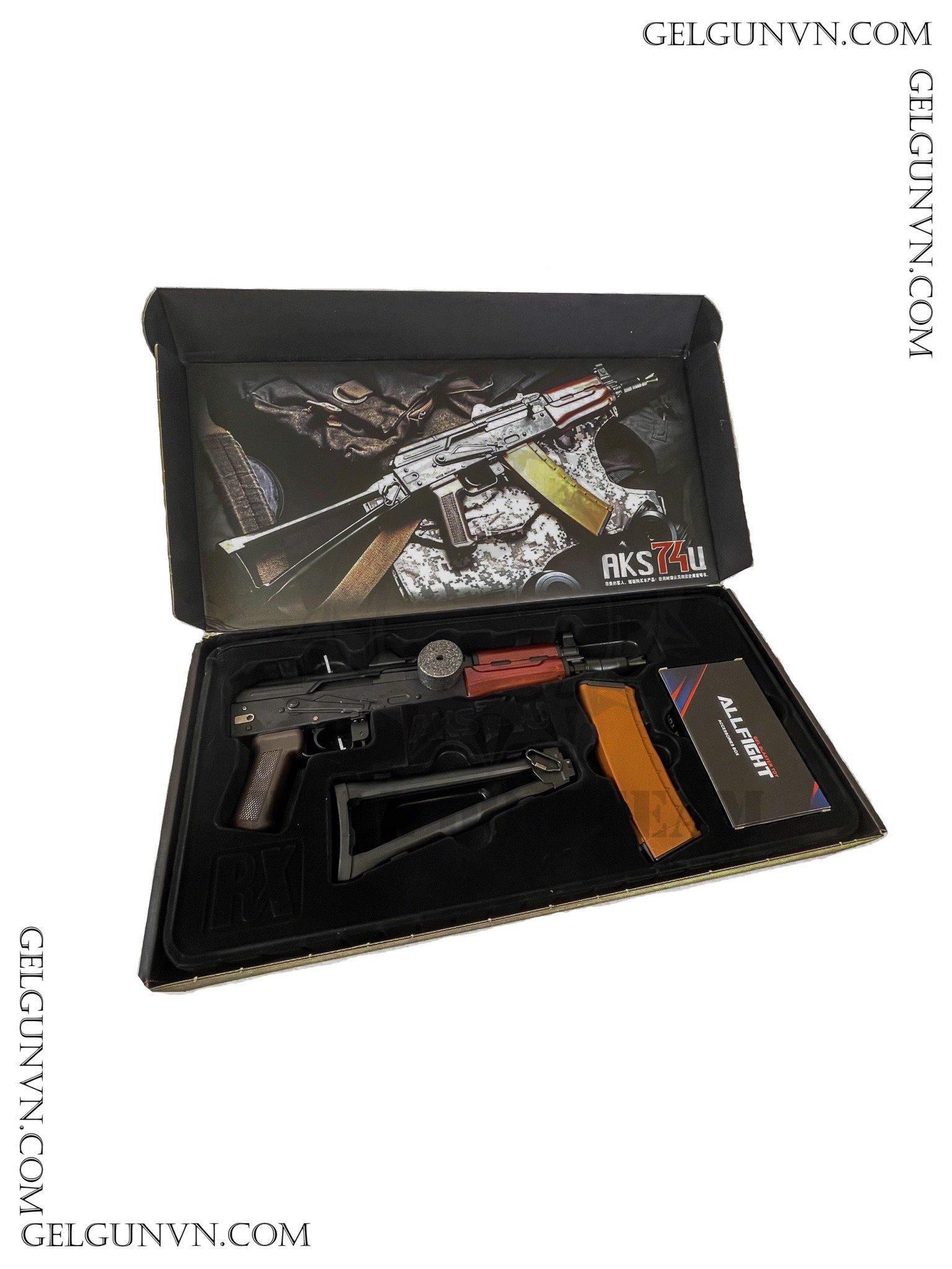 Súng đạn thạch AKS 74u - Siêu Ak ( Có Sẵn Hàng Phục Vụ TẾT )