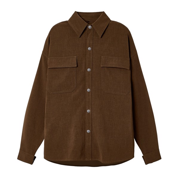 WOOL OVERSHIRT JACKET BROWN