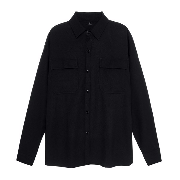 WOOL OVERSHIRT JACKET BLACK