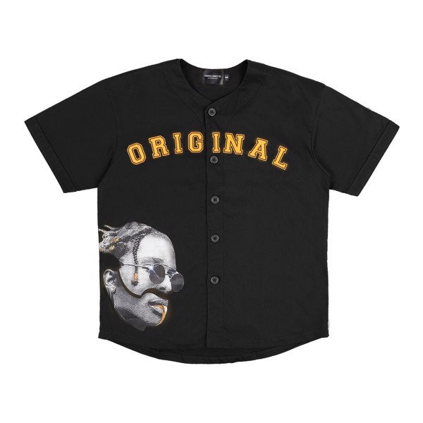 ASAP ROCKY BASEBALL JERSEY - BLACK