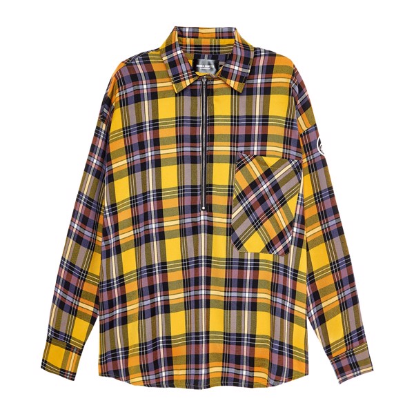 Half Zip Flannel Shirt