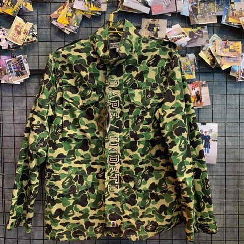 Jacket Bape X Under Green Camo