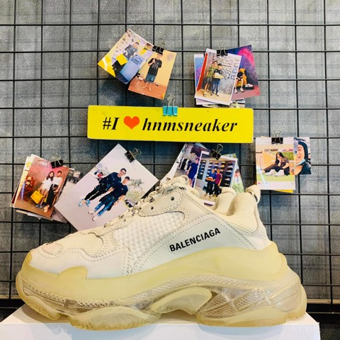 Balenciaga Triple S Clear Sole White ( Like New )