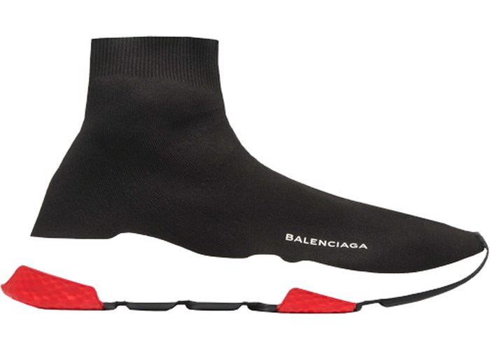 Balenciaga Speed Trainer Mid Black Red